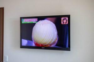寝室の壁掛けテレビ