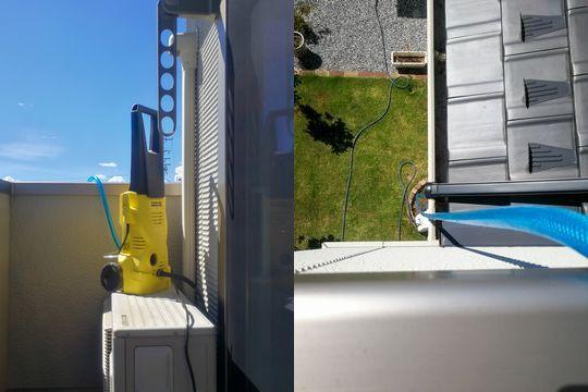 高圧洗浄機と水栓