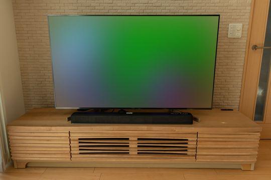 曲線ルーバーなテレビ台