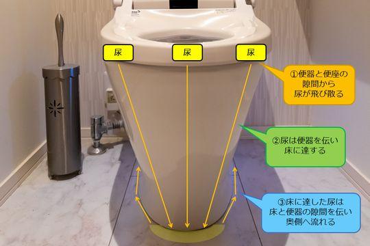 トイレ 尿 汚れる